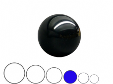 Jac Products Black Translucent 75mm Acrylic Contact Ball
